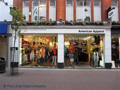 American clothing stores in london